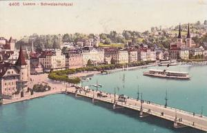 Ferry, Schweizerhofquai, Luzern, Switzerland, 1900-1910s