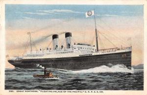 GNP SS CO Geat Northern Steamship Antique Postcard J75577