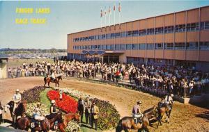 Canandaigua NY, New York - Paddock at Finger Lakes Horse Racing Track