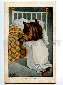 130274 Dressed PUSSY CAT Pray Vintage Ullman Manufacturing PC