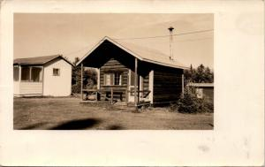 Photo Postcard, Old Camping Cabin RPPC Postcard F23