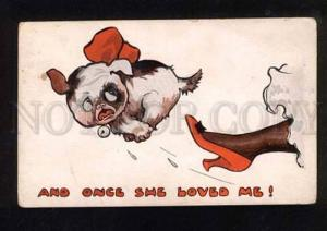 050241 FRENCH BULLDOG Comic PUPPY Vintage Paul Heckscher PC