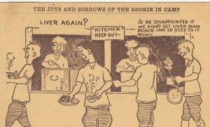 SAN ANTONIO, TX, 1918 ; Camp Humor ; Liver Again?