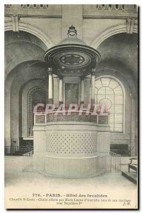 Old Postcard Paris Hotel des Invalides Chapel St louis Chair offered by Marie...