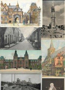 Netherlands Meerkerk Delft Amsterdam Bergen And More Lot of 40 Postcards 01.07