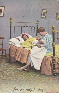 Bamforth Series No 1091 Couple With Crying Baby 1908