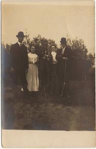 RPPC Hunting Party 1907-15 Men & Women Trip Rifles Shotguns Real Photo Postcard