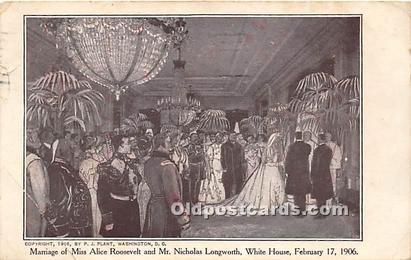 Marriage Alice Roosevelt & Mr. Nicholas Longworth 1906