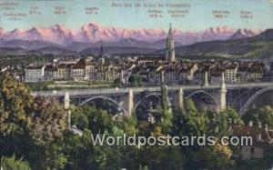 Bern Swizerland, Schweiz, Svizzera, Suisse Alpen im Alpengluhn  Alpen im Alpe...
