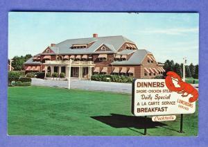 Saco, Maine/ME Postcard, Cascade Lodge & Cabins, Lobster