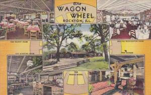 Illinois Rockton Wagon Wheel Restaurant Curteich