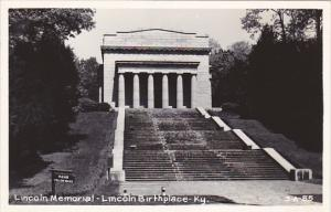 Kentucky Lincoln Memorial Lincoln Birthplace Real Photo