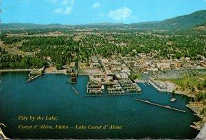 Idaho Coeur d' Alene Aerial View Lake Coeus d'Alene 1984