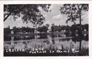 RP: PORTAGE LA PRAIRIE , Manitoba , Canada , 1953 ; Crescent Lake