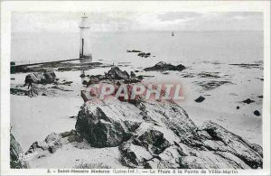 Postcard Old Saint Nazaire Modern Loire Inf The Phare Pointe Cities Martin