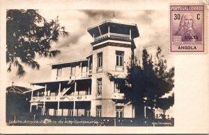 Lobito Angola Postcard unused 1920s RPPC Portuguese Angola Stamp