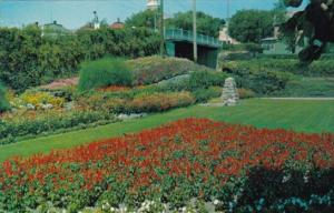 Canada Flower Garden At C P R Station Kenora Ontario