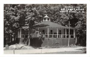 Webster County WV~4-H Camp Caesar Assembly Hall~Folks on Porch~1950s RPPC
