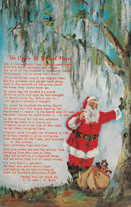Christmas Origin.Christmas 1940 1960 S Poem The Origin Of Spanigh Moss