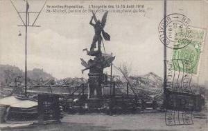 Belgium Brussels Expo 1910 St Michel patron de Bruxelles triomphant du feu L'...