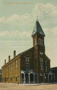 First Baptist Church - Bradford PA, Pennsylvania - pm 1913 - DB