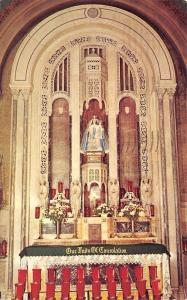 Carey Ohio~Our Lady of Consolation~Shrine Altar~1968 Postcard