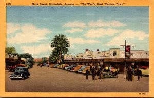 Arizona Scottsdale Main Street Curteich