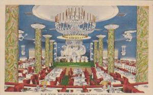Louisiana New Orleans The Roosevelt Hotel Blue Room 1950