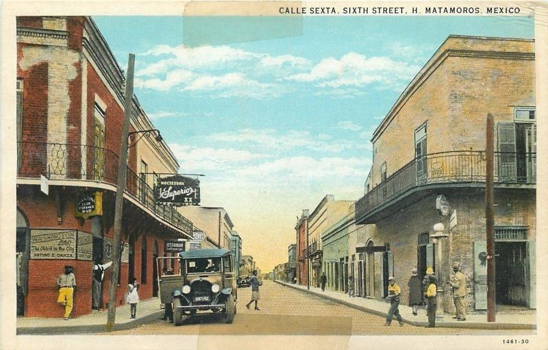H Matamoros Mexico~Sixth Street~Washington Bar~Arturo Garza~Folks Hang Out~1930