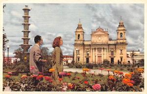Guatemala, Central America, Republica de Guatemala Cathedral in the backgroun...