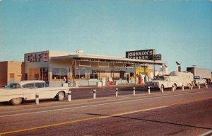 Loveland Colorado Johnson's Corner 24 Hour Cafe Truck Stop Postcard JE229945
