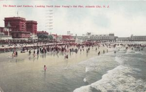 ATLANTIC CITY , New Jersey , PU-1911; Beach & Bathers from Young's Old Pier