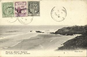 mauritius, SAVANNE, Sea Shore The Grigri (1910) Stamps