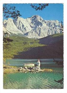Motorbootrundfahrt, Blick Auf Zugspitzee, 2964m., Eibsee 1000m, Bavaria, Germ...