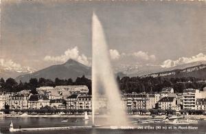 Geneve Jet d'Eau et le Mont Blanc Boats