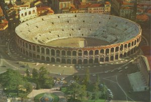 Vintage Postcard - Aerial View of the Arena, Verona, Italy
