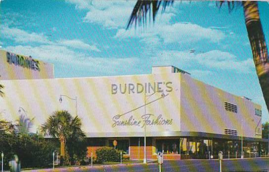 Florida Miami Beach Burdines Meridian At Seventeeth 1955