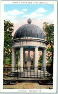 Nashville, Tennessee Postcard Andrew Jackson's Tomb at the Hermitage Linen