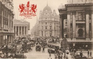 London. Mansion House and Exchange Tuck Heraldic Series PC # 2175