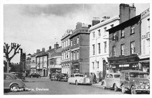 England Devizes Market Place Auto Cars Voitures, with Greetings