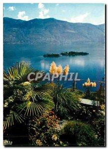 Postcard Modern Ronco S Ascona Lago Maggiore Vista sulle Brissago