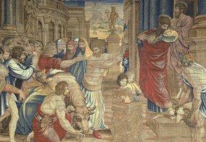 Peter Van Aeist The Sacrifice At Lystra V&A Painting Postcard