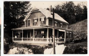 Massachusetts Ma Postcard 1912 FITCHBURG Real Photo RPPC Home Porch