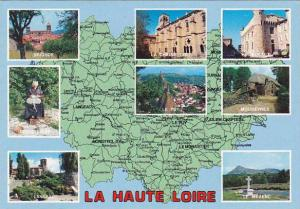 Map of La Haute Loire France Multi View