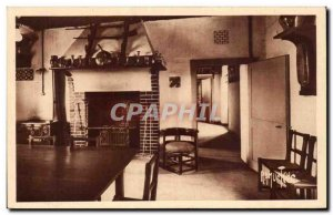 Old Postcard the shack Clemenceau kitchen and corridor