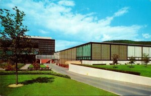 New York The Corning Glass Center Rear View