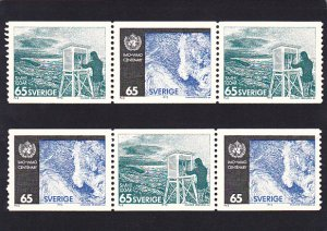 Stamps Of Sweden 1973 Meteorological Service 100 Years