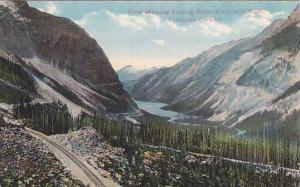 View showing Kicking Horse River near Field, Canadian Rockies, Canada,  00-10s