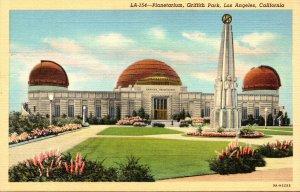 California  Los Angeles Griffith Park Planetarium Curteich