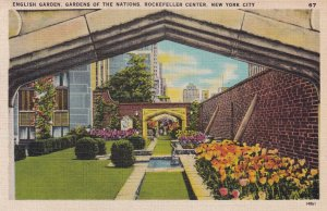 NEW YORK CITY , 1930-40s ; English Garden , Rockefeller Center